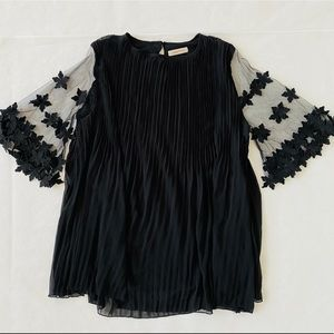 Simply Couture | Accordion Pleat Sheer Dress XL